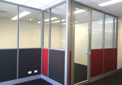 Aluminium framed glass office partitions Perth