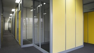 Glass Full height office partitions installed in perth