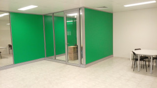 New demountable office partitions