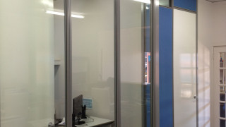 Full height office glass walls installed in perth