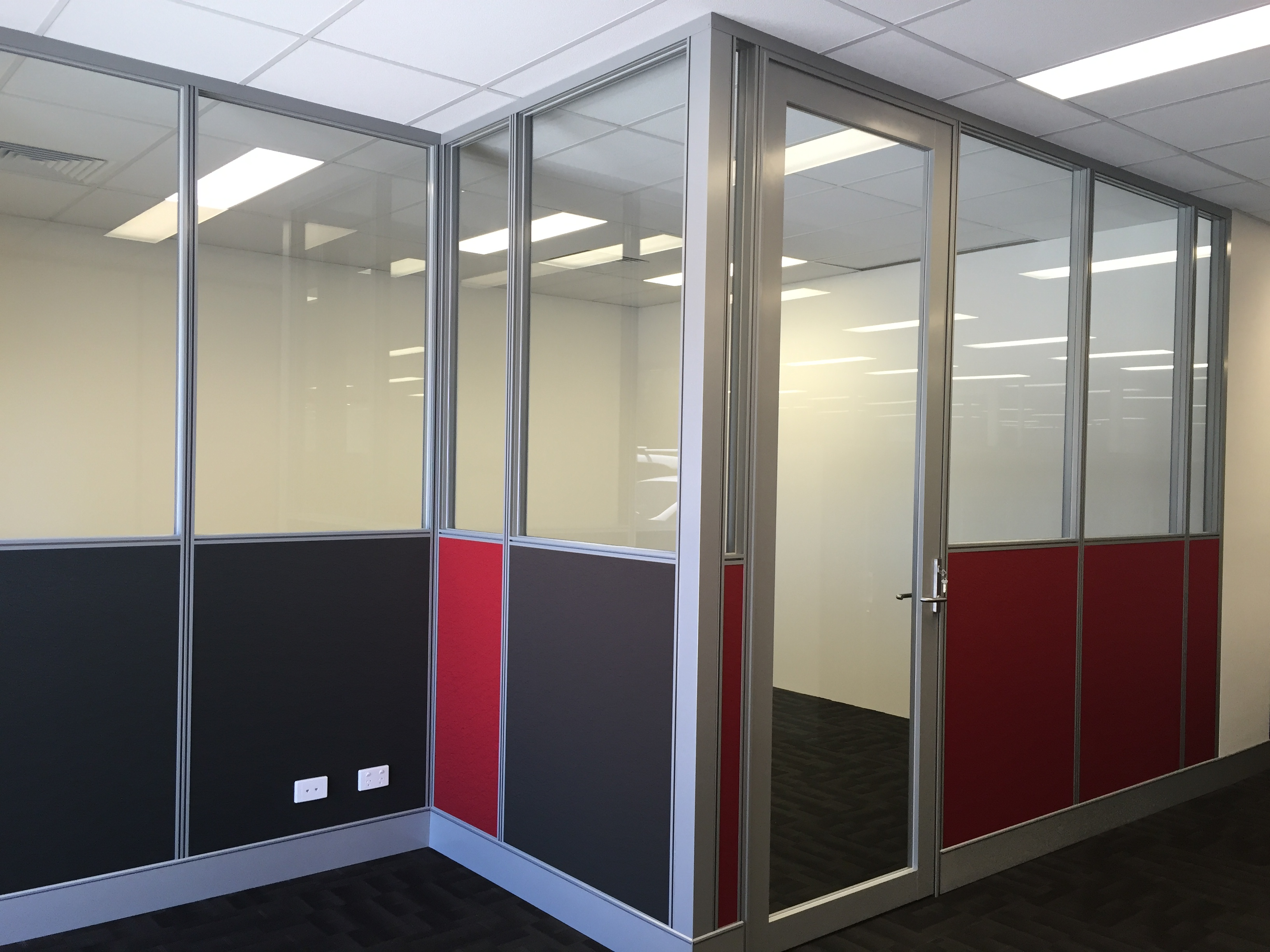 office partitions with doors. Half Glass Office Partitions With Clear Door In Perth Doors