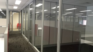 glass partition and door fitout consulting office perth