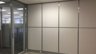 mixed glass and solid office partitions Perth