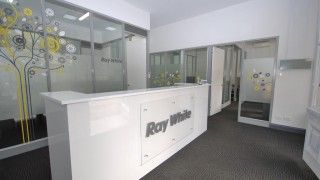 Perth real estate agency reception area office fitout