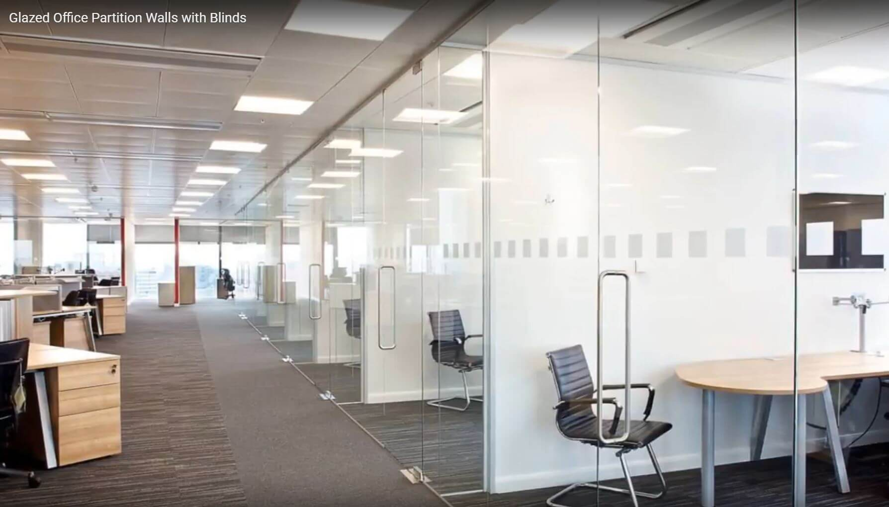Glass Office Partion Walls Perth
