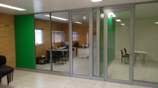 Glass office partitions Perth