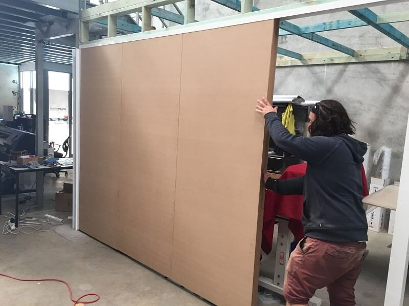 Installing MDF Panel Partitions in Perth