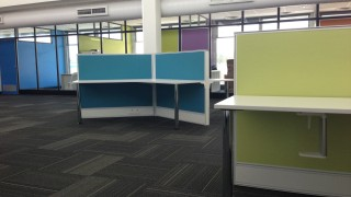 Y shaped workstations in Perth office fitout