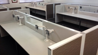 office workstations with monitor stands in Perth WA